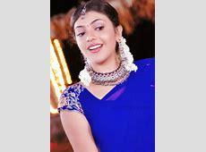 "Kajal agarwal in blue half saree from ""Chandamama"" movie ... Kajal Agarwal Wallpapers In Chandamama"