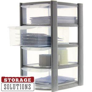 mini storage drawers uk buy 6 x four drawer mini storage tower at home bargains