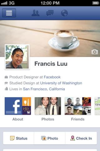 facebook themes for iphone facebook adds timeline to iphone app pcworld