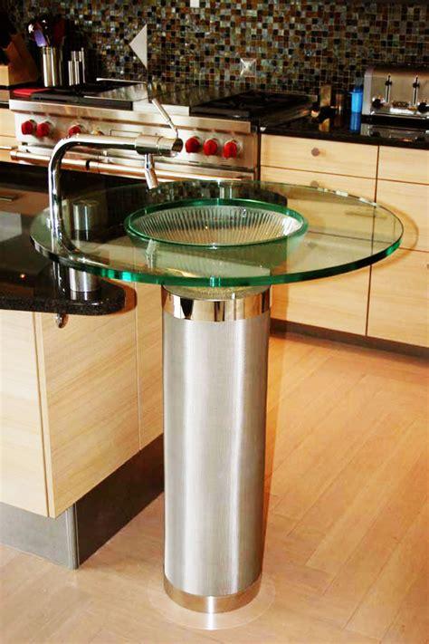 Pedestal Kitchen Sink Glass Pedestal Sink Unique Sink Marc Konys Glass Design