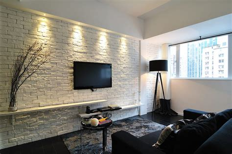 Dining Room Lights Home Depot Accent Brick Wall Family Room Contemporary With Painted