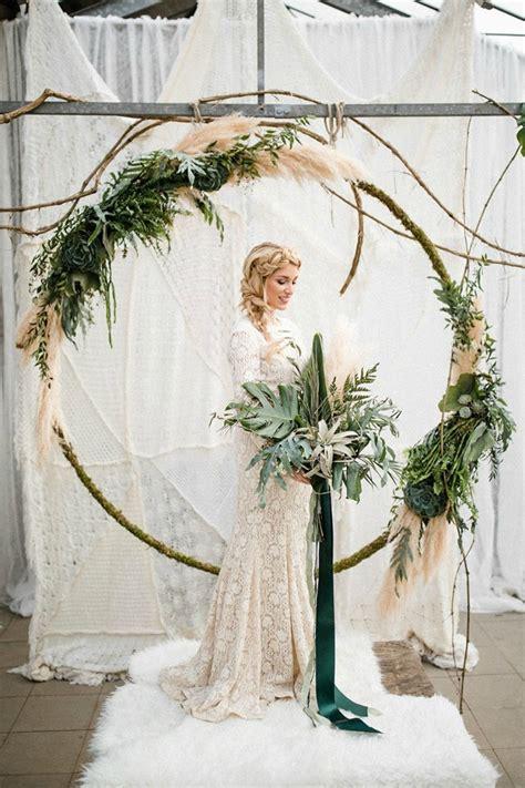 Wedding Arch Circle by 18 Circle Ceremony Arch Wedding Decoration Ideas Pretty