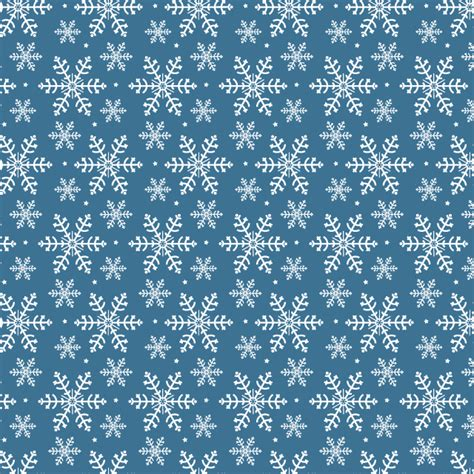 01bb23 Snowflake Patten Simple Design Blue winter snowflakes free seamless vector pattern creative