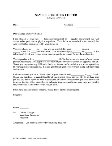 Offer Letter Uae Format Sle Format Of Offer Letter Best Template Collection