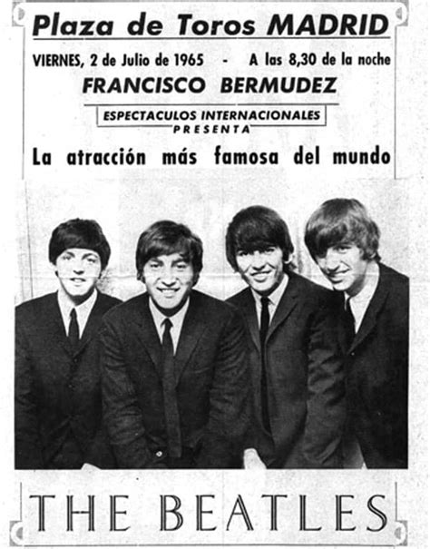 The Beatles 01 650702 beatles madrid poster 01 the beatles bible