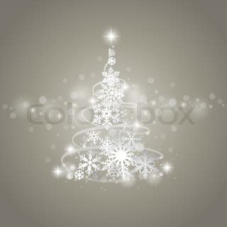 abstract grey winter background with christmas tree and