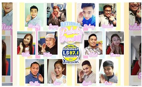 barangay ls 97 1 djs join the national pabebe wave day