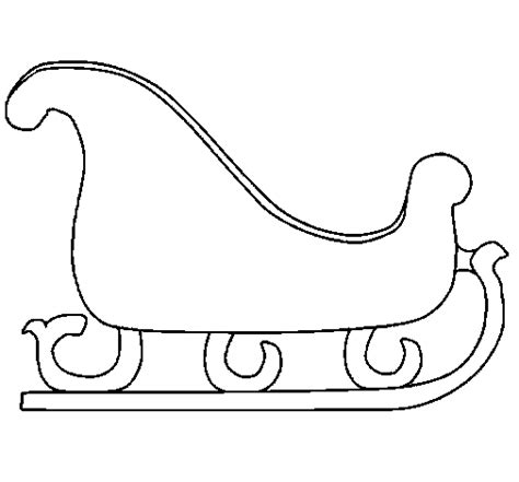 search results for simple coloring pages santa in sleigh