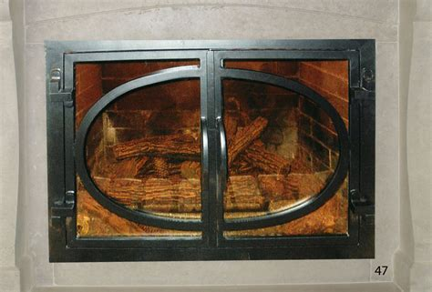forged iron fireplace doors fd047 from mantel depot