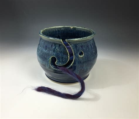 Handmade Clay Pottery - handmade ceramic yarn bowl