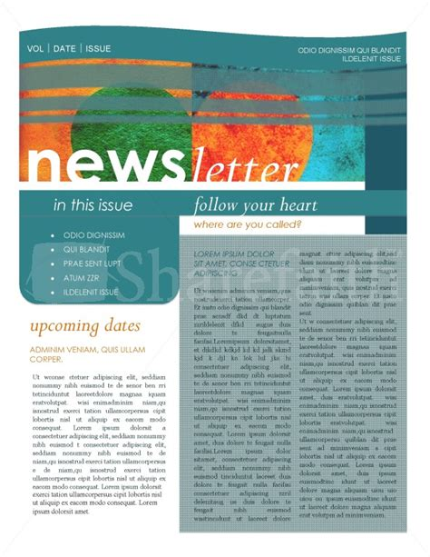 Contemporary Newsletter Template Contemporary Newsletter Template Newsletter Templates