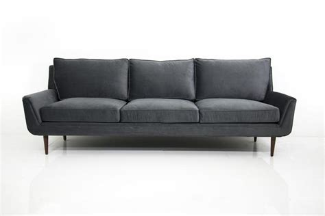 charcoal grey velvet sofa stockholm sofa in charcoal grey velvet modshop