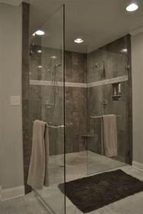 Bathroom Tile Ideas Grey Grey Tile Shower And Marble Bath Ideas