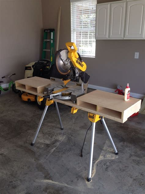 dewalt miter   stand  custom built table