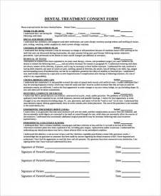 sample dental consent form 5 documents in pdf