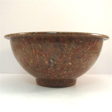 Plastic Bowl Small Brown ware 8 quot brown confetti small bowl vintage 1950s mid