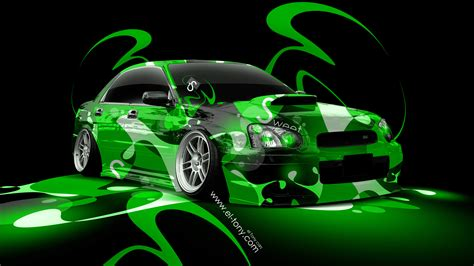 green subaru wrx subaru wrx sti jdm super abstract car 2014 el tony