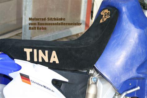 Motorrad Sitzbank Aufpolstern by Motorrad Sitzbank Neu Polstern Motorrad F 252 R Frauen