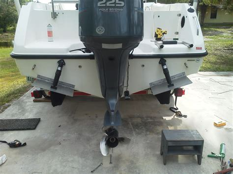 boat ladder with trim tabs disadvantages to trim tabs not mounted towards outer chine