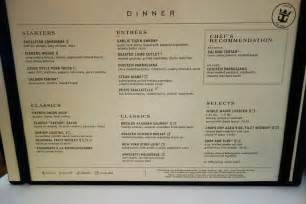 The Dining Room St Menu by New Dining Room Menus On Oasis Of The Seas