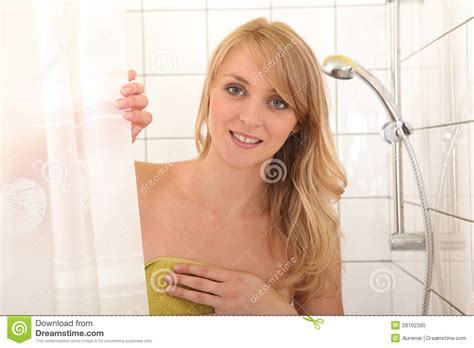 taking a shower stock photo image 28192390