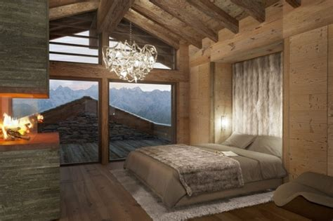 chambre style montagne