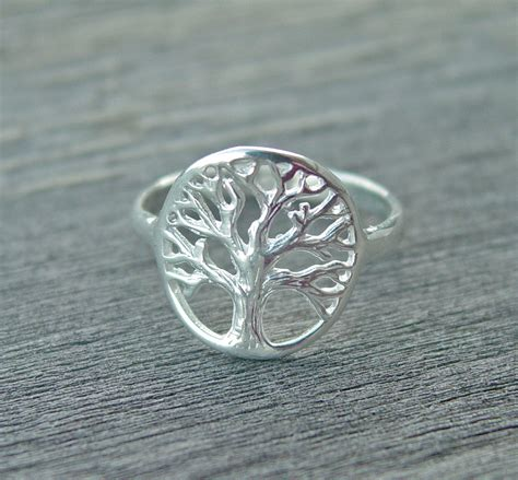 tree ring tree of ring personalized ring branch ring