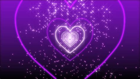 pattern formation heart tunnel made of heart shape neon light stock footage video