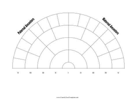 5 generation family tree fan chart template