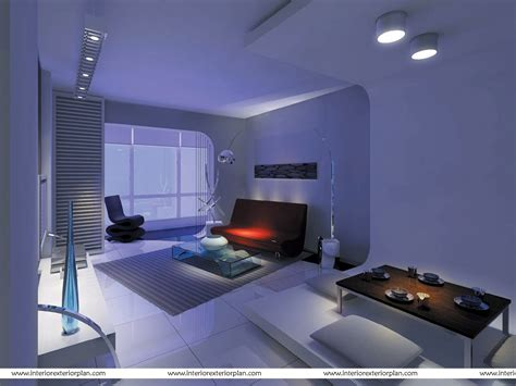 interior exterior plan living room  futuristic design