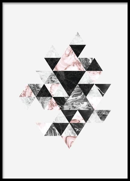 pattern art prints poster with triangles graphic prints online stylish poster