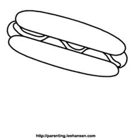 coloring pages of hot dogs crafts foods on pinterest preschool food worksheets and