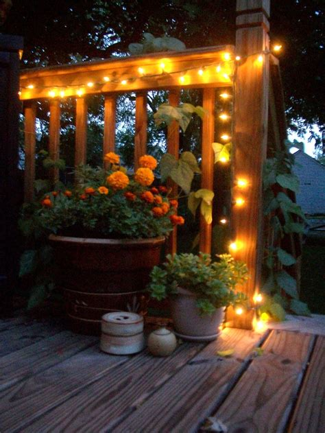 string lights on deck porches patios and pools pinterest