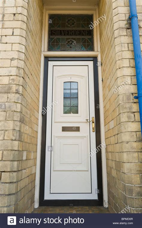 Modern Upvc Front Doors Modern White Upvc Front Door Of Brick Built House In Stock Photo Royalty Free Image