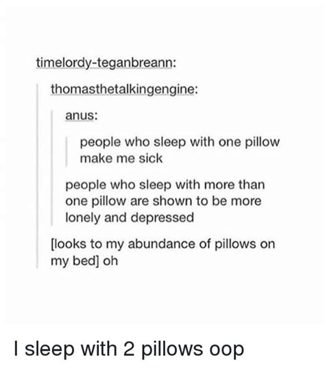 Sleeping With More Than One Pillow imelor thomasthetalkingengine who sleep with