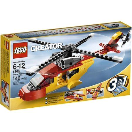 lego boat helicopter lego creator quot rotor rescue quot 3 in 1 helicopter biplane