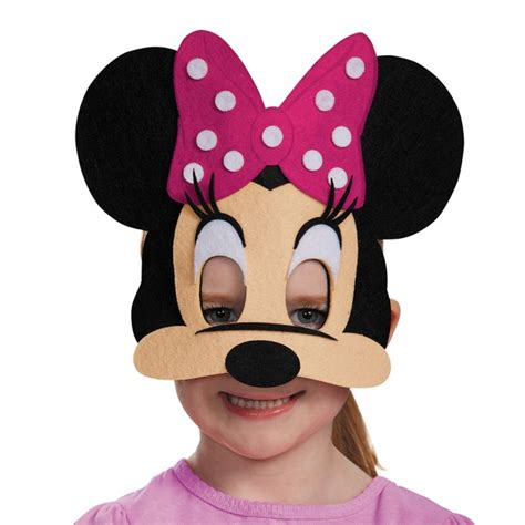 minnie mouse pink felt mask disguise