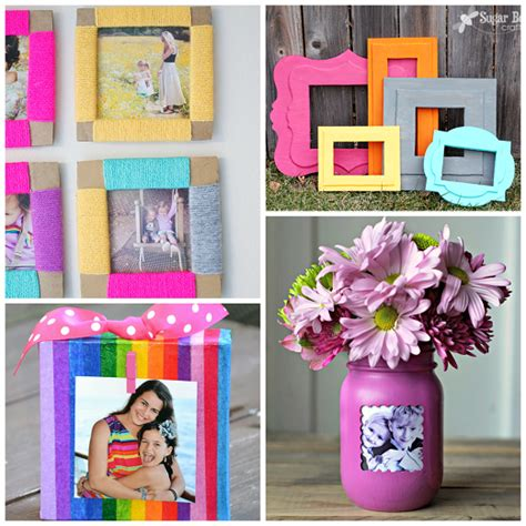 How To Decorate A Bow Window diy photo frame ideas crafty morning