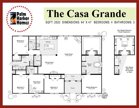 palm harbor home floor plans casa grande palm harbor homes tx
