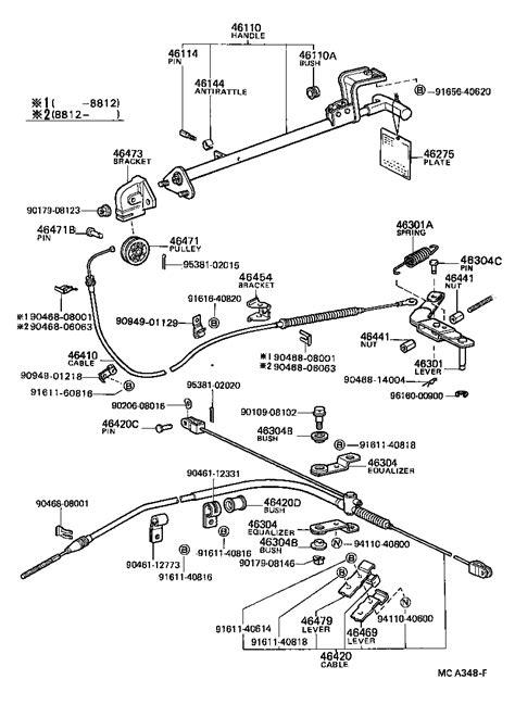 toyota 4 runner truckrn61lv pdea powertrain chassis