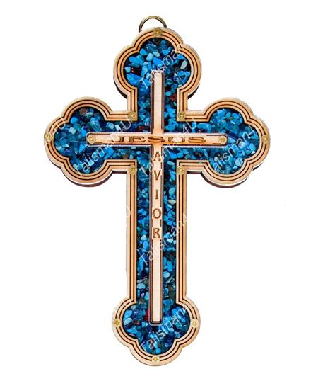 turquoise wall cross jesus savior home decor
