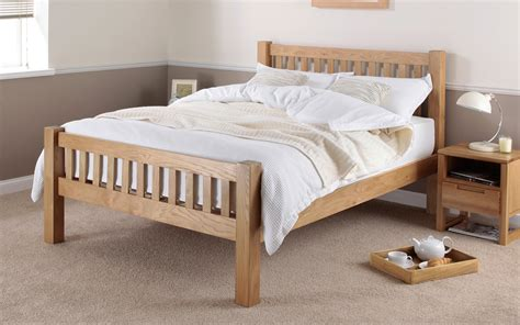 Wooden Bed Frames Uk Silentnight Ayton Solid Oak Wooden Bed Frame Mattress