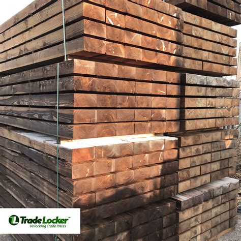 Railway Sleepers Free Delivery by 2 4m Brown Railway Garden Sleepers 100x200mm Landscaping