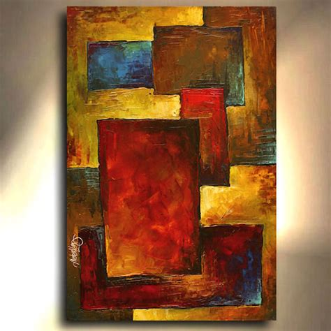 biography of modern artist abstract painting 36 quot modern art contemporary cubism mix