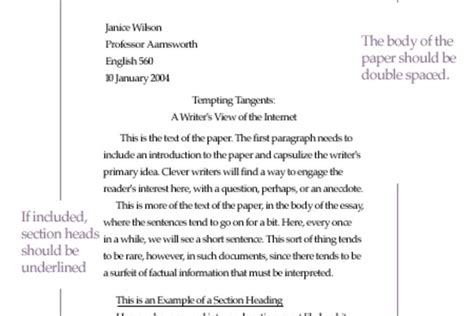 Proper Way To Write An Essay by Mla Essay Heading