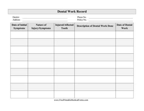 free personal health record template great for personal records this free printable