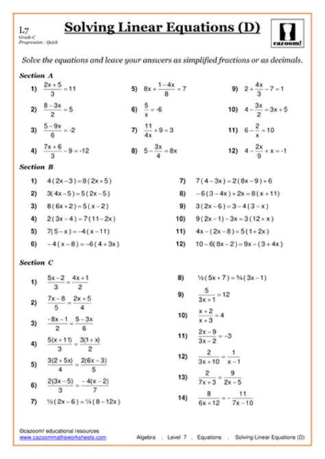 Solving Linear Inequalities Worksheet Pdf by Worksheet Solving Linear Equations Worksheets Caytailoc