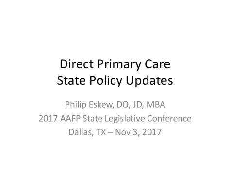 Mba Dallas Conference by Direct Primary Care An Alternative To Traditional