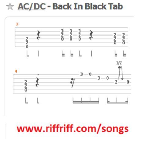 Ac Dc Back In Black Guitar Chords