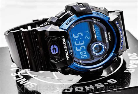 Casio G Shock Standard Digital Blue Ga 110sl 3a Intl casio g8900a 1 g shock black and blue resin digital sport